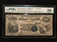 1882 $10 Ten Wells Fargo PMG VF20 San Francisco National Bank Note Fr545 Ch5105