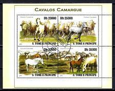 Chevaux Saint Thomas et Prince (54) série complète de 4 timbres oblitérés