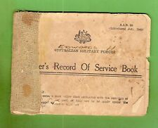 #D451. WWII  AUSTRALIAN SOLDIER'S RECORD OF SERVICE BOOK