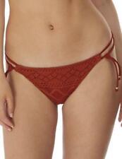 Freya Sundance Rio Tie Side Brief Bottoms 3975 Womens Swimwear Burnt Amber