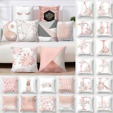 Kissenbezug 45x45 Dekokissen Kissenhülle Bezug Hülle Kopfkissen Bezug Weiß Rosa