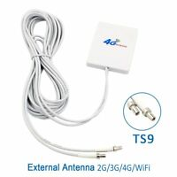 28dBi 4G 3G LTE 2 x TS9 Broadband Antenna Signal Amplifier For Mobile Router