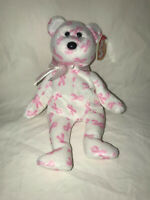 "TY BEANIE BABIES ""GIVING"" THE BEAR BREAST CANCER AWARENESS 2007 RETIRED"