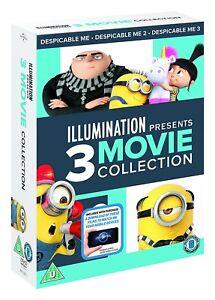 Despicable Me 1-3 Box Set DVD + Digital Download UK Region 2 New/Sealed
