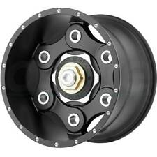 22x10 MOTO METAL LINK 8x180 ET-18 Satin Black Wheels (Set of 4)