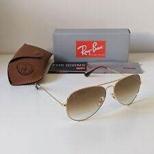 Ray-Ban Aviator Large 62mm Gold Brown Gradient Sunglasses - RB3026 001/51 62-14