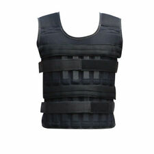Black 60KG Adjustable Weighted Workout Weight Vest Fitness Training Waistcoat US