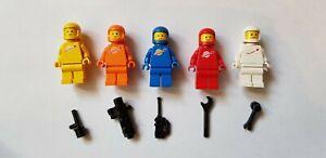 Lego Classic Spaceman Minifigures x5 Orange White Yellow Red Blue See Pics