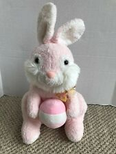 """Aurora Pink Easter Bunny with Egg Rabbit Plush Stuffed Toy Super Soft 19"""""""