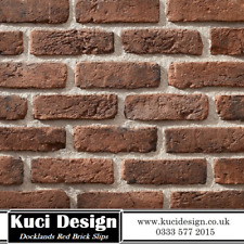 Dockland Red Brick Slips, Wall Cladding, Feature Wall, Brick Tiles SAMPLE