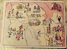 Carte de France Illustrées d'après Pinchon Vichy Moulins Orge Montbrison Roanne