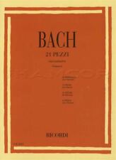 Johann Sebastien Bach 21 Pezzi Pieces for Clarinet Sheet Music Book