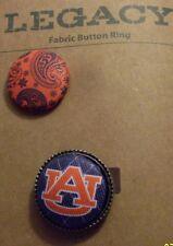 NEW Legacy AUBURN Tigers War Eagle Fabric Button Ring