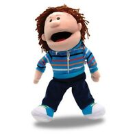 TELLATALE WHITE BOY HAND GLOVE PUPPET WITH MOVING MOUTH - By Fiesta Crafts