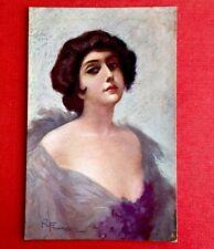 CPA. Roberto FRANZONI. 24-5. Femme. Robe Lilas. Décolleté. Charme. Glamour.