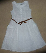 NWT Target Girls White Embroidered Summer Dress with Belt Size 4 or Size 7