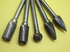 5 PCS Set (10MM) THK Tungsten Carbide Rotary Drill Cut Burr 6MM Shank (BCDFG-10)