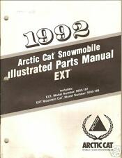 1992 ARCTIC CAT EXT SNOWMOBILE  PARTS  MANUAL