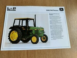 JOHN DEERE 1040 - 1140 L - P SERIES TRACTORS COLOUR FARMING PRE USED BROCHURE VG
