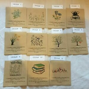 5,10,20 x Wildflower Seed mothers day Packets - PERSONALISED message for mum
