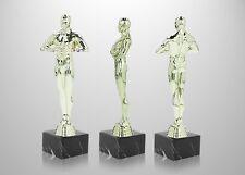SIEGERFIGUR in 3 Größen inkl. passendem Schild, Filmstatue Award ähnlich Oskar