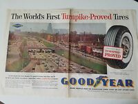1960 Goodyear First Turnpike Proved Tire Original Auto Ad