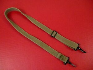 WWII US Army M1938 Dispatch or Map Case Lt. OD Canvas Shoulder Strap Assy - NICE