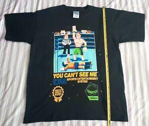 Vintage John Cena Minecfraft style U Cant C Me Wrestling Shirt Brand New L 14-16