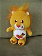 2004 Play Along Care Bear Cousins Orange Brave Heart Lion Plush Stuffed  9""
