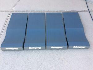"Set of 4 Flatstoppers Race Ramps 14"" W 35"" L Car Storage Dark Gray Long Length"