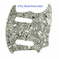 For US Fender Mustang Classic Series Style Guitar Pickguard , White Pearl Shell