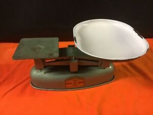 vintage cast iron weighing scale
