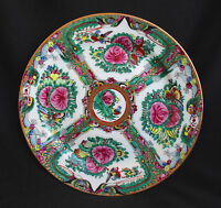"""""""Famille Rose""""  Late Chinese Porcelain, Hand Painted Butterfly & Birds Plate"""