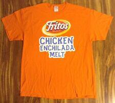 "SUBWAY FRITOS BRAND CHICKEN ENCHILADA  MELT MEN'S ORANGE T SHIRT SZ ""L"" NWOT NEW"