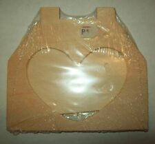 Sanded Wooden Mini Picture Frame Unpainted Heart Opening To Paint & Decorate
