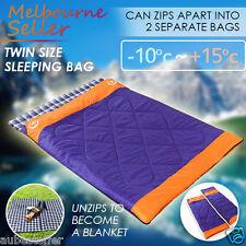 Twin Couple Zip Together Outdoor Camping Waterproof  Sleeping Bag Hiking Winter
