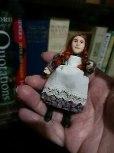 Dolls House Doll - girl in Victorian outfit, by Susan Emsell.