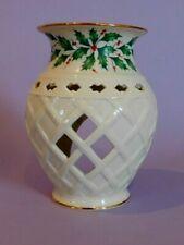 Lenox Christmas Holiday Fragrance Warmer Porcelain Tealight Holly & Berries D