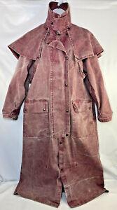 Australian Outback Drover Coat Mens Small S Duster Jacket Vintage Slicker