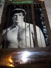 Original 1982 Rocky 111 Movie Poster Sylvester Stallone Mylaur Heavy Stock RARE