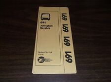 FEBRUARY 1981 CHICAGO RTA ROUTE 691 BUFFALO ARLINGTON HEIGHTS BUS SCHEDULE