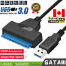 USB 3.0 to SATA 22 Pin Hard Drive Adapter Cable for 2.5 inch HDD SSD Hard Drive