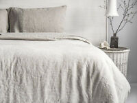 Linen Duvet Cover Set (3pcs) Stone Washed Softened European Linen