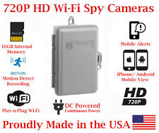 SecureGuard 720p HD WiFi Wireless IP Electrical Box Mini Nanny Hidden Spy Camera