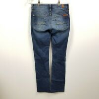 7 For All Mankind Womens Jeans 27 Measures 27x30 Kimmie Straight Leg Mid Rise