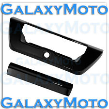 2015-2016 FORD F150 Gloss Black Tailgate Door Handle Cover+Camera Hole 15-16