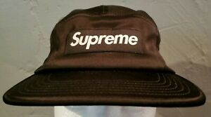 Supreme SS17 Satin Box Logo Camp Cap Hat Black S/S 17 Box Bogo USA NEW