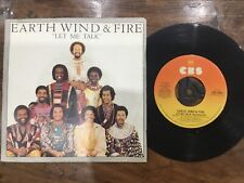 VINYL RECORD SINGLE VINTAGE RETRO 45 EARTH WIND FIRE LET ME TALK PICTURE COVER