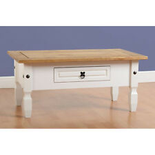 Corona 1 Drawer Coffee Table Painted White