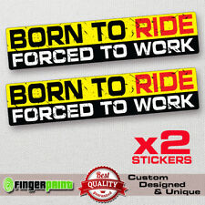 BORN TO RIDE sticker decal vinyl chopper harley davidson bobber diy offroud car
